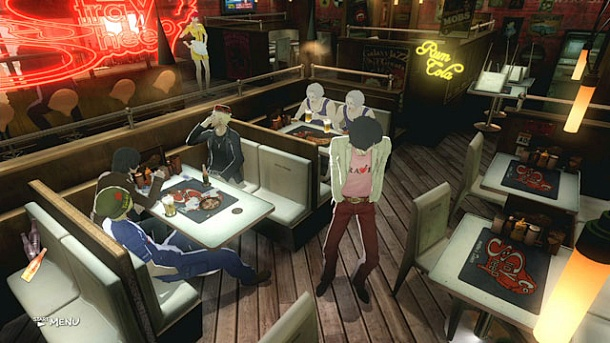 Stray Sheep-- the bar where Vincent and his friends gather for dispassionate talk is the adventure half of Catherine