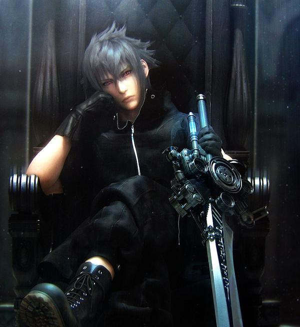 Pretty much the tired look of fans waiting for Versus XIII (minus the sword)