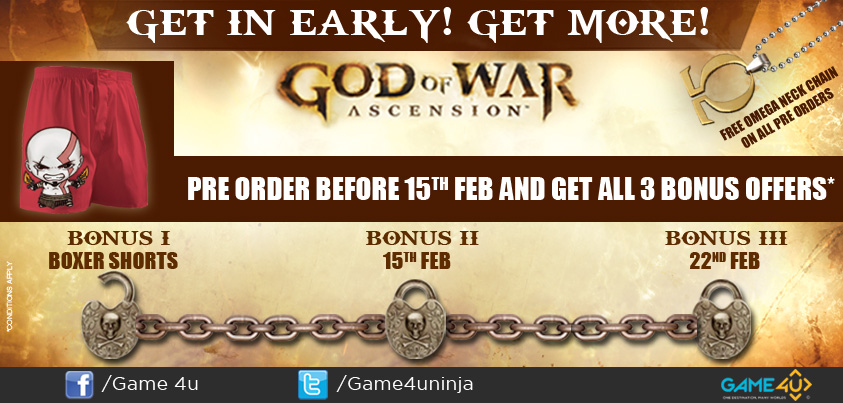 Game4u - GOW Ascension pre-order offer
