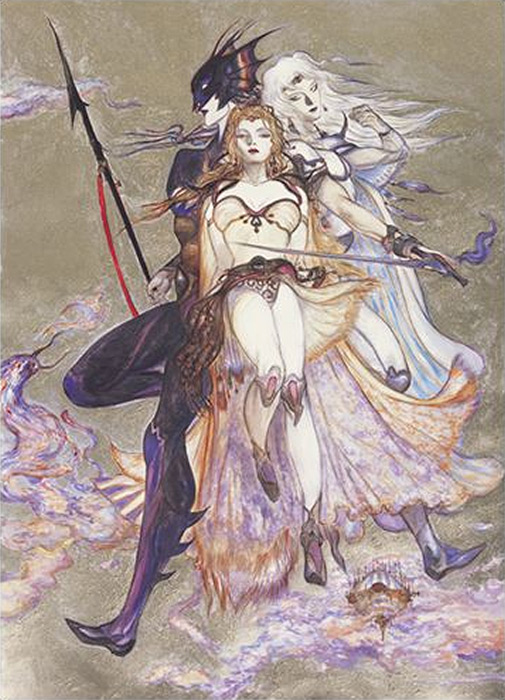 Amano's Renaissance-era inspired artwork is revered by long-time fans and is severely under-utilized