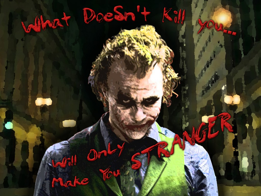 """Dark Knight  Joker Wallpaper by Drawn While Drinking 1024x768 """"Did I Ever Tell You....? The Definition of Insanity?"""" Of Vaas, Joker, and supercriminal mentality"""