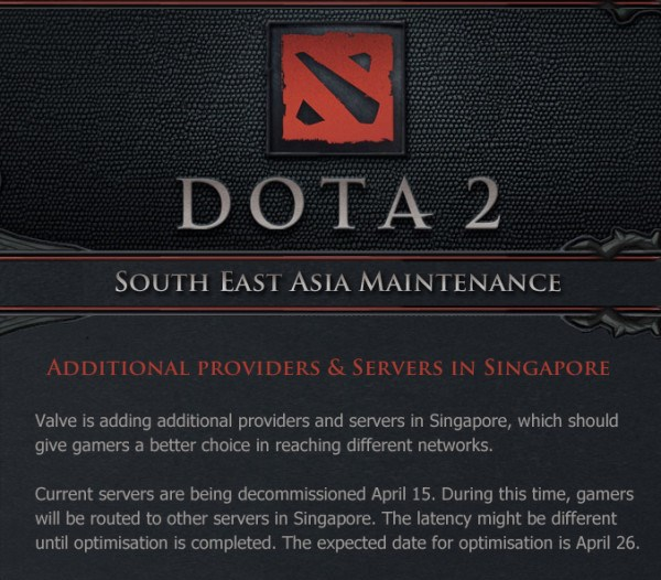 758281054 Valve server maintainence causes lag all over India in DOTA 2