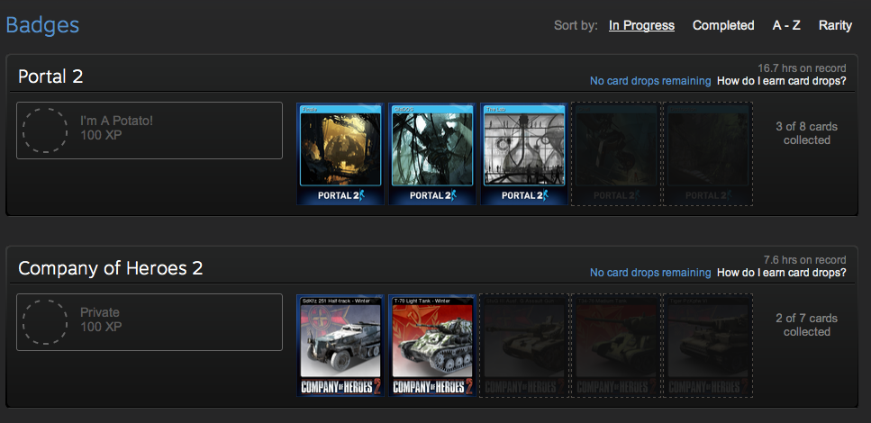 Steam Badges