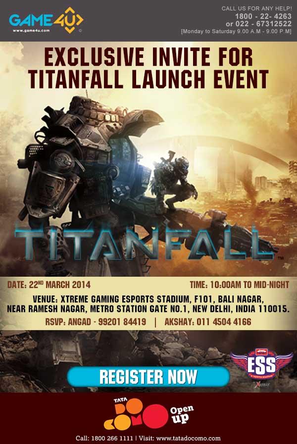 Titan fall Docomo Mailer Delhi