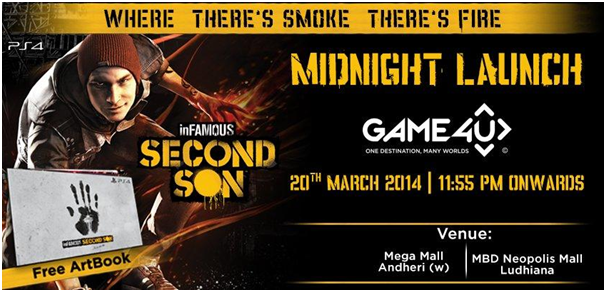 inFamous Second Son Midnight Launches in India Confirmed