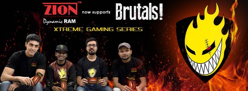 "Indian RAM manufacturer ZionRAM sponsors CS:GO pros ""Team Brutality"""