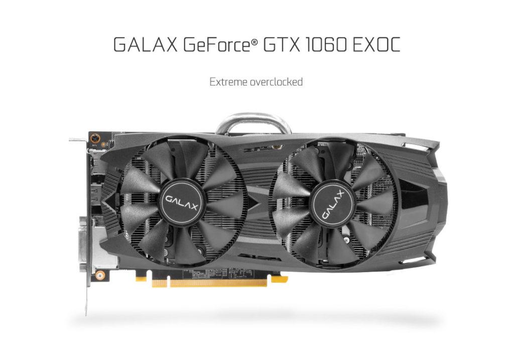 The GALAX GTX 1060 EXOC Edition