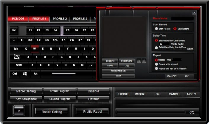 ASUS Cerberus Mech RGB Keyboard